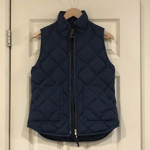 J Crew Factory Navy Blue Quilted Puffer Vest